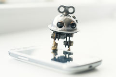 Steampunk robot Stock Photos