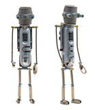 Steampunk robot. Two sides. royalty free stock images