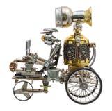 Steampunk-Roboter auf Fahrzeug Stockbilder
