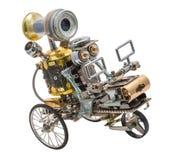 Steampunk-Roboter auf Fahrzeug Stockfotos