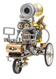 Steampunk-Roboter auf Fahrzeug Lizenzfreies Stockbild