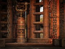 Steampunk Room Royalty Free Stock Image