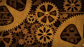 Steampunk rotation of the gears