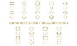 Steampunk-Sammlung lokalisiert - Rahmen und Grenzen 2 vektor abbildung