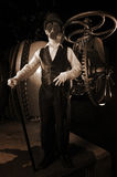 Steampunk Scene Royalty Free Stock Images