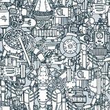 Steampunk seamless pattern royalty free illustration