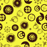 Steampunk seamless pattern Stock Image