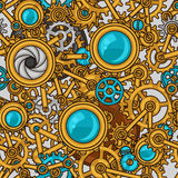 Steampunk seamless pattern of metal gears in Royalty Free Stock Image