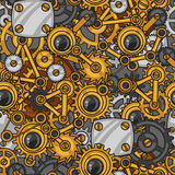 Steampunk seamless pattern of metal gears in Stock Images