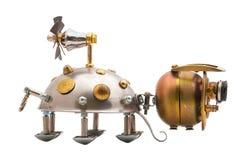 Steampunk skalbagge. Fotografering för Bildbyråer