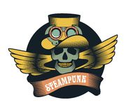 Steampunk skull Royalty Free Stock Images