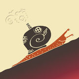 Steampunk snail. Artwork from  image Royalty Free Stock Photo