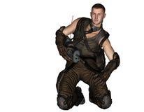 Steampunk soldat Fotografering för Bildbyråer