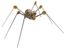 Steampunk spider. Royalty Free Stock Photo