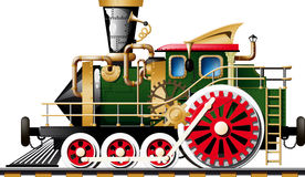 Steampunk Steam locomotive Royalty Free Stock Photo