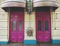 Steampunk stildörrar Dörrtema Royaltyfri Bild