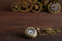 Steampunk stilwatch med kugghjul Royaltyfria Foton