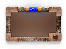 Steampunk style ad board Stock Photo