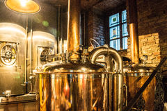 Steampunk Style Beer Brewery Kettle Stock Photo