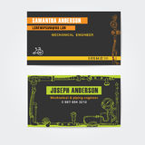 Steampunk style business cards design, steampunk Royalty Free Stock Photos