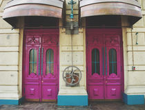 Steampunk style doors. Door theme royalty free stock image