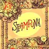 Steampunk style illustration Stock Photos