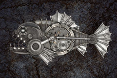 Free Steampunk Style Piranha Stock Photo - 97786280