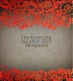 Steampunk background. Victorian era, steampunk style. Steampunk style. Template steampunk design for card. Frame steampunk background. Victorian era, steampunk royalty free illustration
