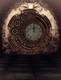 Steampunk Tid stock illustrationer