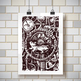 Steampunk time machine Stock Images
