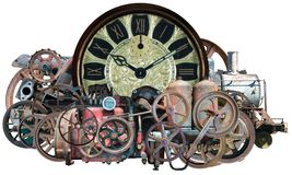 Steampunk Time Machine Technology Isolated