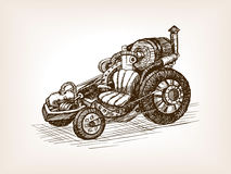 Steampunk transport vehicle sketch vector Stock Photos