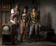Steampunk Trio Stock Photo