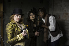 Steampunk Trio Royalty Free Stock Photography
