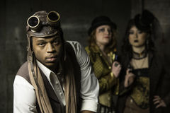Steampunk Trio Stock Photography