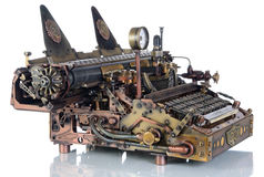 Steampunk Typewriter. Royalty Free Stock Photography