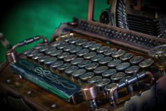 Steampunk Typewriter. Stock Photos