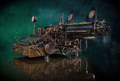 Steampunk Typewriter. Royalty Free Stock Photo