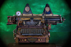 Steampunk Typewriter. Royalty Free Stock Photos