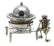 Steampunk UFO. Royalty Free Stock Photo