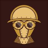 Steampunk - Uitstekend Karakterontwerp Stock Foto