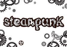 Steampunk Unik hand dragit bokstäverord i steampunkstil, royaltyfri illustrationer