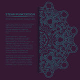Steampunk vector design with industrial technical elements Stock Images