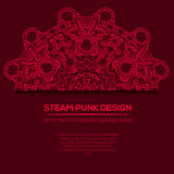 Steampunk vector design with industrial technical elements Royalty Free Stock Photo