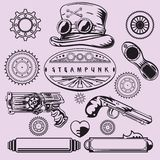Steampunk Vintage Elements. Steampunk Vintage Isolated Element Set Stock Photography