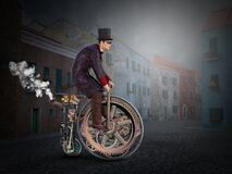 Free Steampunk Vintage High Wheel Bicycle Royalty Free Stock Photography - 174897327