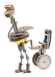 Steampunk-Vogel mit Sitz Lizenzfreies Stockfoto