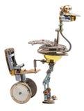 Steampunk-Vogel mit Sitz Lizenzfreie Stockbilder