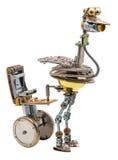 Steampunk-Vogel mit Sitz Stockbilder