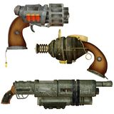 Steampunk weapons Stock Images